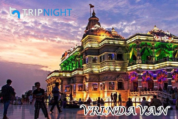 VRINDAVA:- Vrindavan is described as one of the twin holy city.